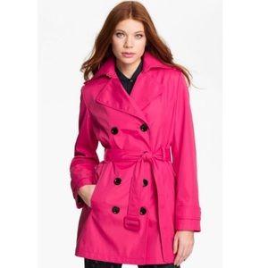 NWOT Calvin Klein Pink Trench Coat